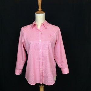 Ralph Lauren Pink Plaid Button up